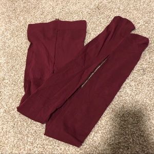 Maroon tights